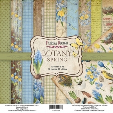 "Double-sided scrapbooking paper set ""Botany Spring"", 8""x 8"" , Fabrika Decoru"