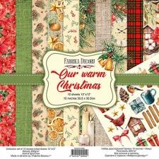 """Набор скрапбумаги """"Our Warm Christmas"""", 30,5х30,5 см"""