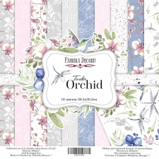 "Double-sided scrapbooking paper set ""Tender orchid, 12""x 12"" , Fabrika Decoru"