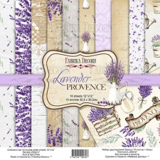 "Double-sided scrapbooking paper set ""Lavender Provence"", 12""x 12"" , Fabrika Decoru"