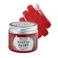 Rustic paint. Color Red Sunset