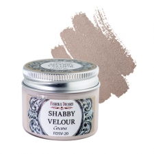 Shabby velour. Color Cocoa