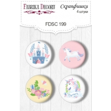 Flair buttons. Set of 4pcs #199