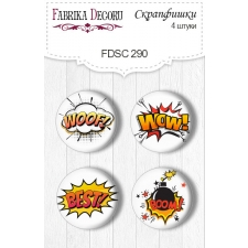 Flair buttons. Set of 4pcs #290