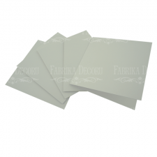 Set of 5 blanks for creating cards 15х15cm White