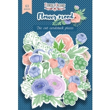 "Set of die cuts ""Flower Mood"", 63 pcs"