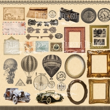 """Decorative sheet for cutting """"Shabby Memory"""""""