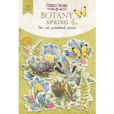 "Set of die cuts ""Botany Spring"", 58 pcs"
