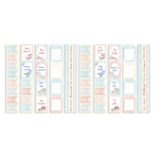 "Set of stripes with pictures for decoration ""Shabby Baby Girl"""