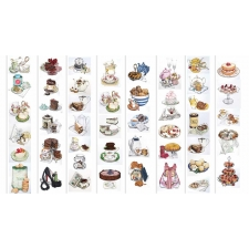 """Set of stripes with pictures for decoration """"Ladies's sweets"""""""