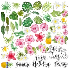 "Decorative sheet for cutting ""Wild Tropics / Tropical paradise"""