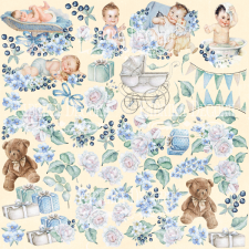 "Decorative sheet for cutting ""Shabby Baby Boy"""