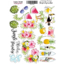 "Kit of stickers #016, ""Tropical Paradise"""