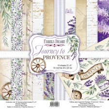 "Double-sided scrapbooking paper set ""Journey to Provence"", 8""x 8"" , Fabrika Decoru"