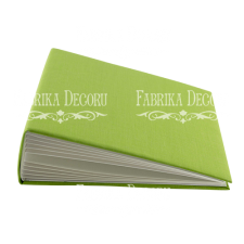 "Blank album with a soft fabric cover ""Grass green"""
