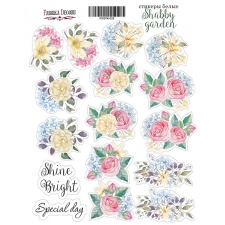 "Kit of stickers #032, ""Shabby garden"""