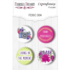 Flair buttons. Set of 4pcs #304