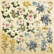 "Decorative sheet for cutting ""Botany Summer 1"""