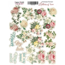 "Kit of stickers #024, ""Letters of love"""
