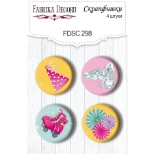 Flair buttons. Set of 4pcs #298