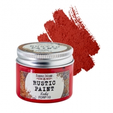 Rustic paint. Color Ruby