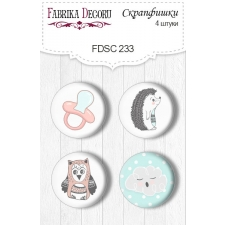 Flair buttons. Set of 4pcs #233