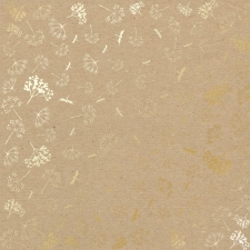 "Sheet of single-sided paper embossed by golden foil ""Golden Dill Kraft"""