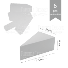 """Набор картонных заготовок #003 """"Тортики"""" - белый"""