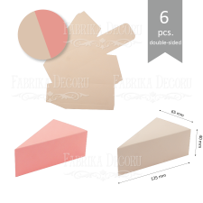 Set of cardboard blanks #003 - beige / pink