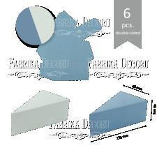 """Набор картонных заготовок #003 """"Тортики"""" - синий/голубой"""
