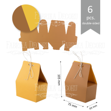 Set of cardboard blanks #004 - kraft brown