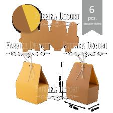 "Набор картонных заготовок #004 ""Корзиночки"" - крафт"