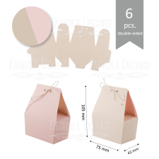 Set of cardboard blanks #004 - beige / pink