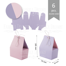 Set of cardboard blanks #004 - lilac / pink