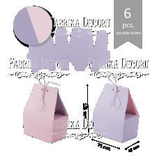 """Набор картонных заготовок #004 """"Корзиночки"""" - лиловый/розовый"""