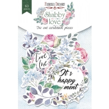 "Set of die cuts ""Shabby Love"", 63 pcs"