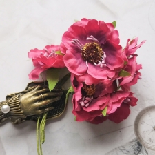 Fabric Poppies 45 mm - 5pcs