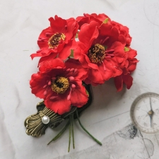 Fabric Poppies 45 mm - 5pcs