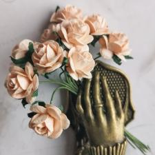 Open Roses 15mm - 10pcs