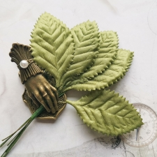 Fabric Leaves 65 mm - 10pcs