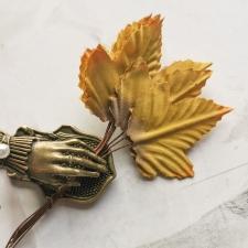 Текстильные листья 50мм - 10шт