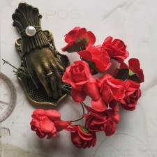 Open Roses 20mm - 10pcs