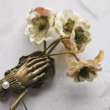 Fabric Flowers 30 mm - 5pcs