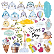 "Decorative sheet for cutting ""My Tiny Sparrow Boy"""