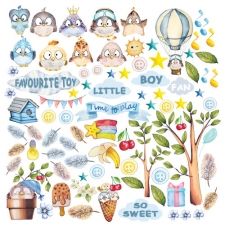 "Decorative sheet for cutting ""Cutie Sparrow Boy"""