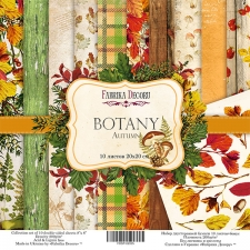 "Double-sided scrapbooking paper set ""Botany Autumn"", 8""x 8"" , Fabrika Decoru"