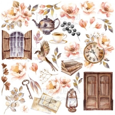"Decorative sheet for cutting ""Sentimental Story"""