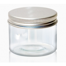 Transparent pot with a tin lid 50 ml
