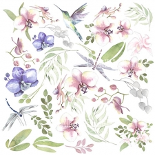 "Decorative sheet for cutting ""Wild Orchid"""