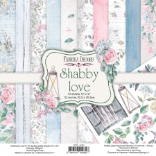 "Double-sided scrapbooking paper set ""Shabby Love"", 12""x12"""